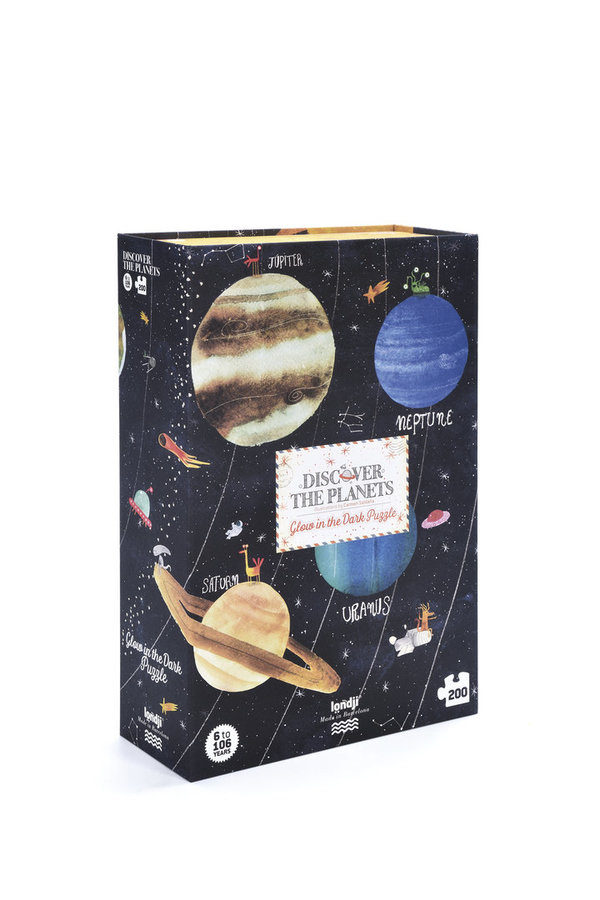 Londji Glow in the Dark Puzzle Discover the Planets (200 Teile)