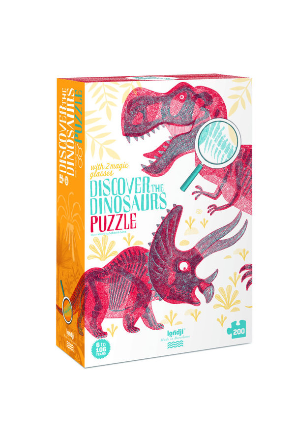 Londji Puzzle Discover the Dinosaurs (200 Teile)
