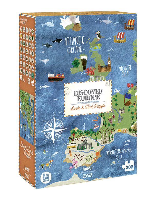Londji Puzzle Discover Europe (200 Teile)