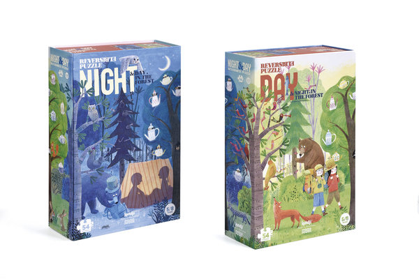 Londji Reversible Puzzle Day & Night in the Forest (100 Teile)