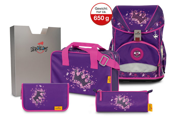 Der Die Das Schulranzen-Set Ergoflex Superlight - Purple Princess
